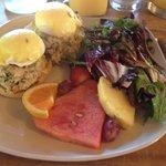 Crab Cakes Benedict - in their Sunday brunch menu