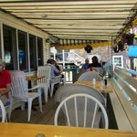 The outside deck