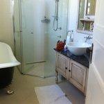 the renovated bathroom