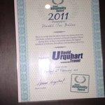 David Urqhart Certificates on display