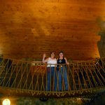 Indoor swinging bridge