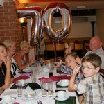 best celebration of 70th Birthday with family and grand children