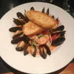Mussels and Shrimp Pasta