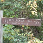 Sign for Appalachian Trail. How cool is that! About a mile before Main Entrance near Eckville