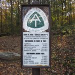 Marker for Appalachian Trail along Hawk Mountain Road
