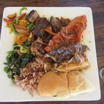 food on private island..jerk chicken & pork amazing