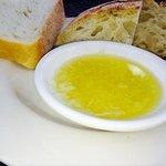 Cheesy EVOO and garlic bread. Yum!
