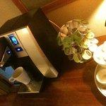 Máquina de café sempre a disposição