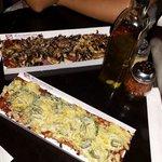 Personal pizzas, Amalfi and Paparatzi. Perfectly prepared