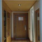 Pasillo de entrada con closet y frigobar con costo.