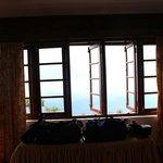 The bedroom overlooking the amazing view