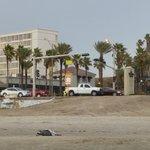 Hilton from beach across the street