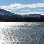 Looking across the lake