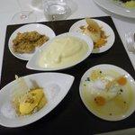 Degustazione quattro dolci con sbrisolona e zabaione