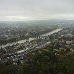 Blick vom Fusse der Mariensäule auf die Stadt Trier.