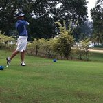 At the golf course - Teeing off.....