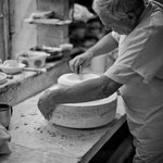 Our mould maker works away in his studio