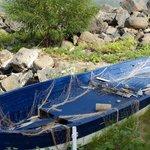 Boot am Strand von Giardini Naxos