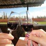 Brinde com vinho de sobremesa