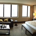 Panoramic photo of the room