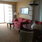 Roomy bedroom facing ocean