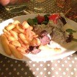 Brochettes de bœuf sauce roquefort