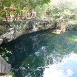 Una parte del cenote