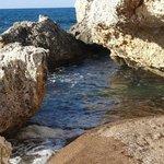 The beach close to Aphrodite Baths