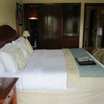 king bed and wardrobe