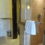 seperate marble shower area