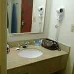 Outer bathroom area
