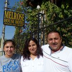 Mehmet with his wife and daughter