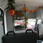 Halloween/Fall decorated Tour Bus
