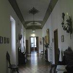 Hallway with original antique furniture