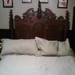 Hand crafted headboard and French art