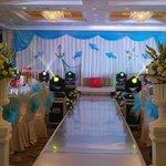 Sala allestita per matrimonio all'interno dell'albergo