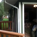 front door and back deck