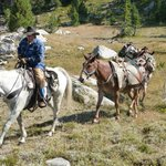 Vic Jackson, owner, pack trip in Beartooth Mountains