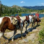 Skyline Guide Service horse pack trip into Beartooth Mountains