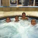 My daughters enjoying the pool and spa area