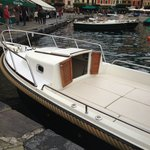 Front part of Boat - has inside section if it does start to rain