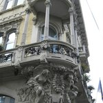 Architectural detail of Hotel Grand'Italia