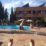 Chilling at the pool, Hotel Alixares, Granada