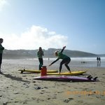 Fistral Beach Surf Lesson with Dale at Big Green Surf.