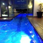 Indoor/Outdoor pool at night