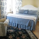 The Hydrangea Suite is spacious and comfortable.