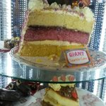 Some of the giant desserts available