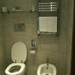 Partial view of bathroom at Hotel Firenze e Continentale, La Spezia