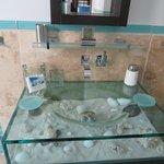 Master bathroom sink in Corinnes Villa
