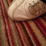 Gap in floor under carpet, definate trip hazzard